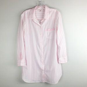 Victoria's Secret Classic Pink & White Striped PJ